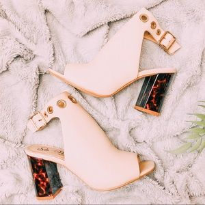 Shoes - Ya No Ay Tortillas|Nude Chunky Heels Mules Sandals